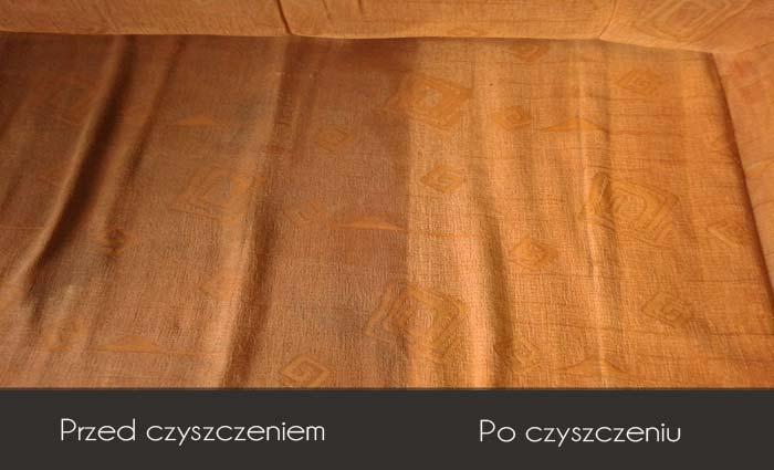 Efekt prania tapicerki meblowej
