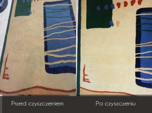 Efekt widoczny po wypraniu dywanu, czyszczenie wykładzin, pranie wykładzin Gdynia