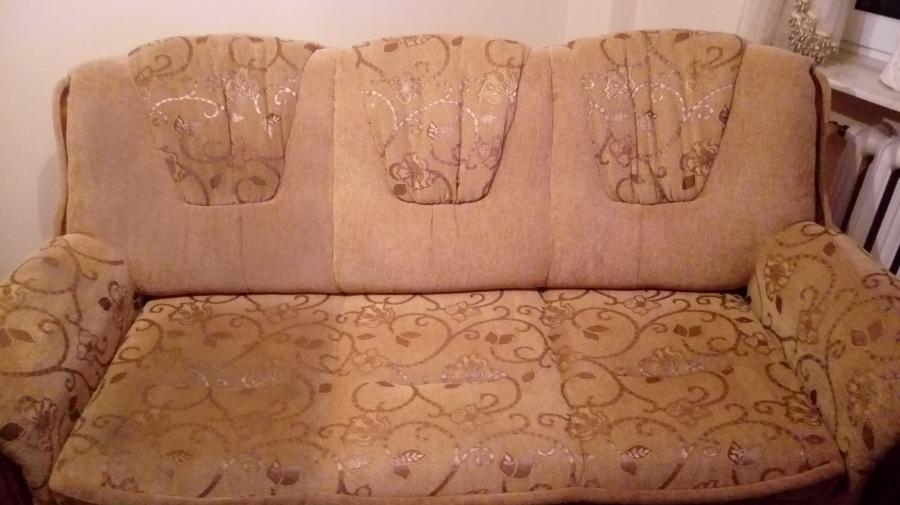 Częściowy wypranie tapicerki meblowej