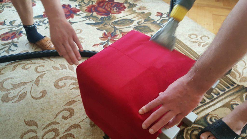 Czyszczenie i pranie tapicerek meblowych pufy Gdynia