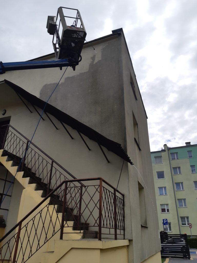 efekt wyczyszczonej fasady